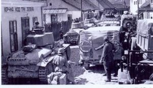 Царина, Немањина 1941. Улазак Немаца у град-окупација